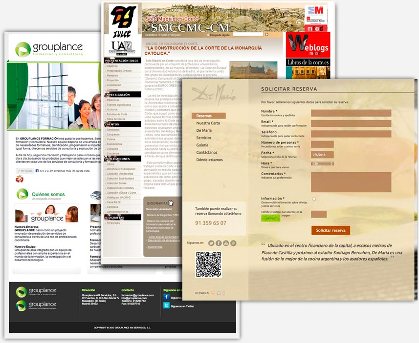 webs a medida, php, mysql, html5, jquery, usabilidad, responsive | grouplance